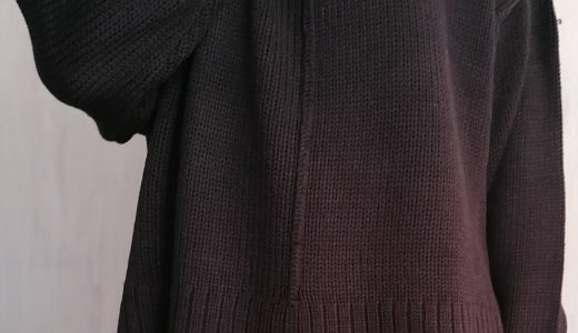 【Iライン ハイネック 】ざっくりと着れるのに上品な バルキーニット